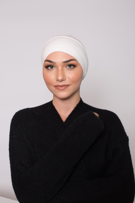 Bonnet tube coton blanc