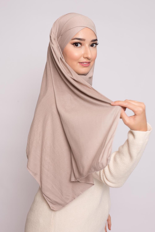 Hijab prêt à porter jersey nude