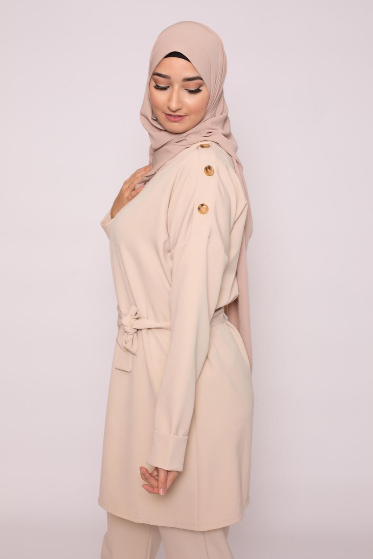 Hijab soie de médine natural