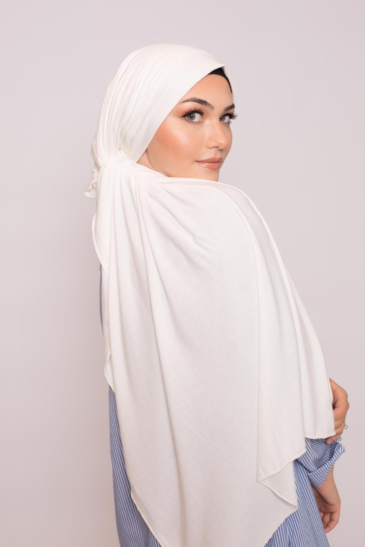 Maxi jersey blanc égyptien cassé