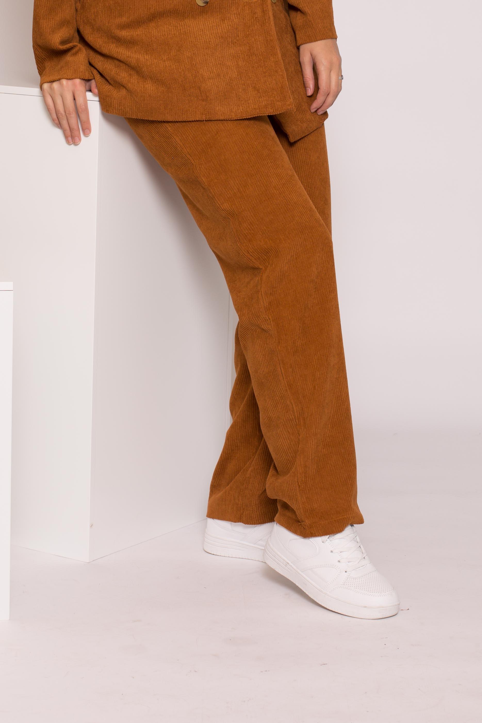 Pantalon velours côtelé camel