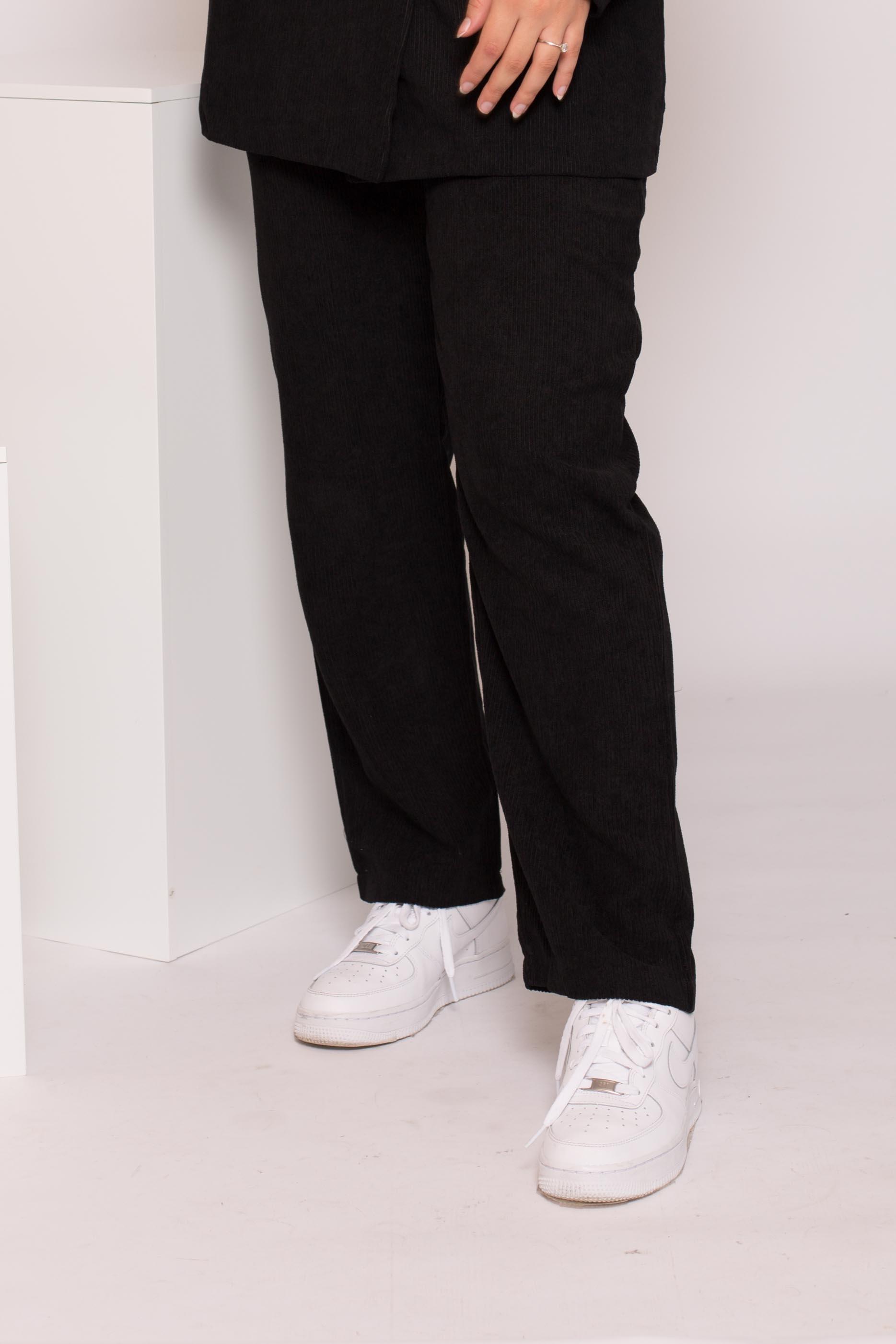 Pantalon velours côtelé noir