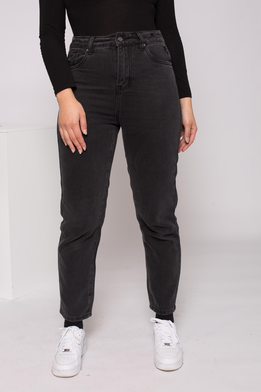 Jeans mum noir