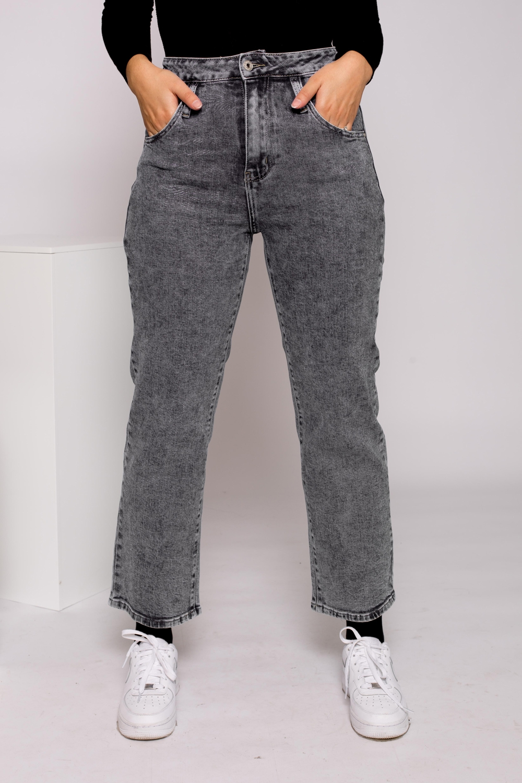Jeans large délavé noir