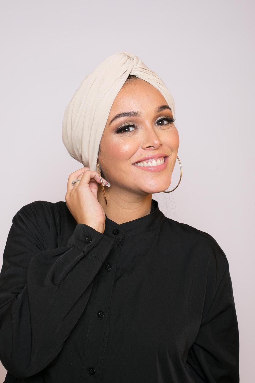 Turban égyptien beige