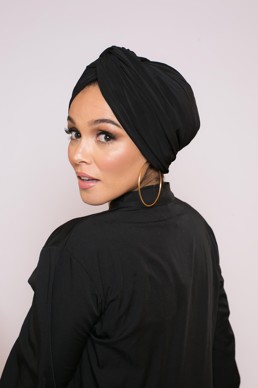 Turban égyptien noir