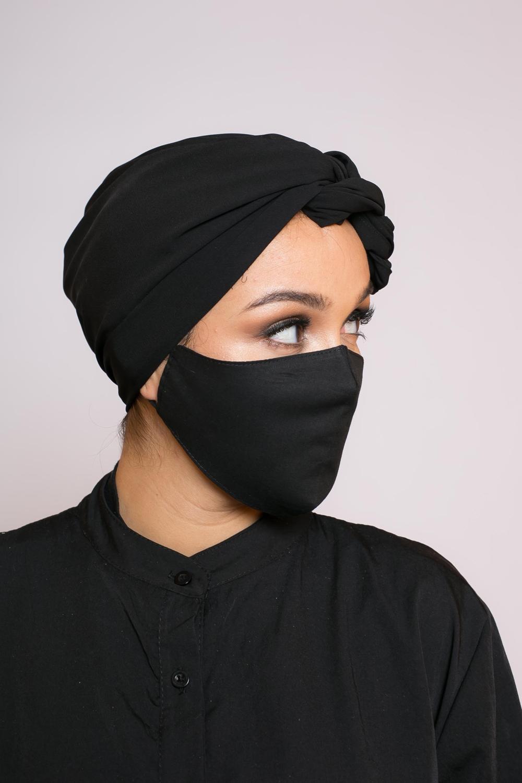 Masque 100% coton noir
