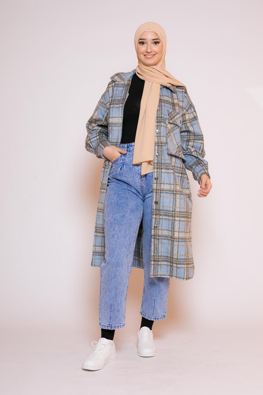 Jeans slouchy bleu