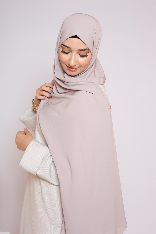 Hijab soie de médine crème
