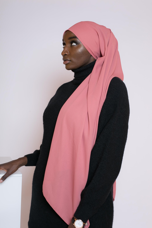 hijab mousseline terre cuite