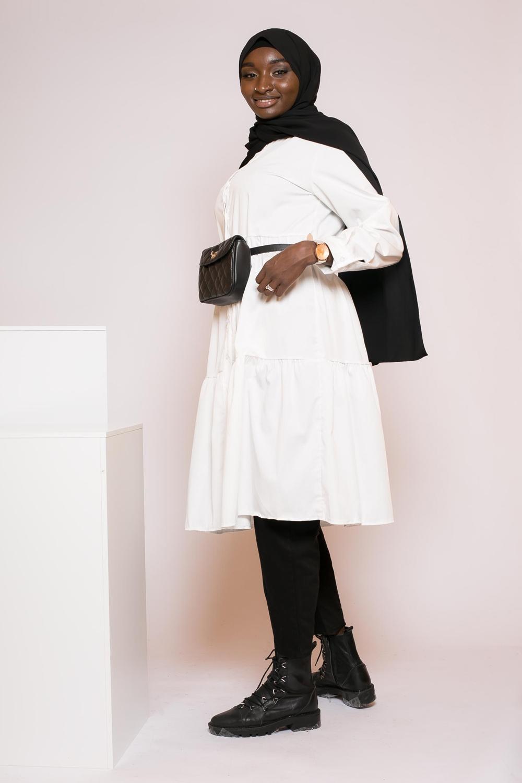 Chemise évasée blanche