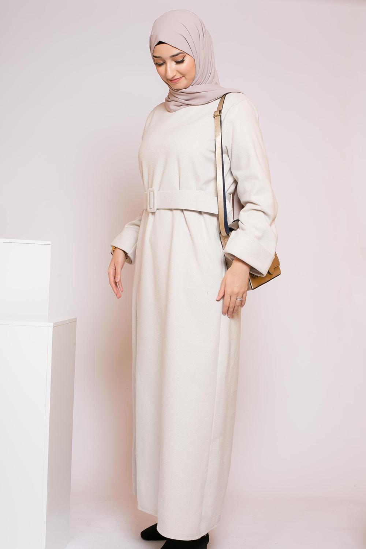 Abaya winter beige