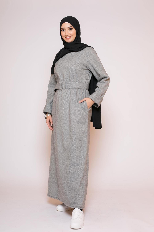 Abaya winter noir