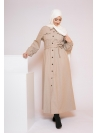 Robe chemise d'hiver beige