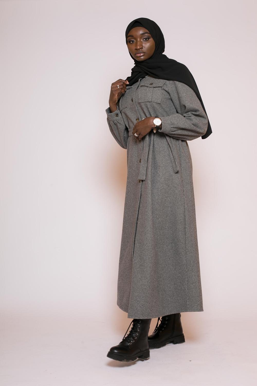 Robe chemise d'hiver noir