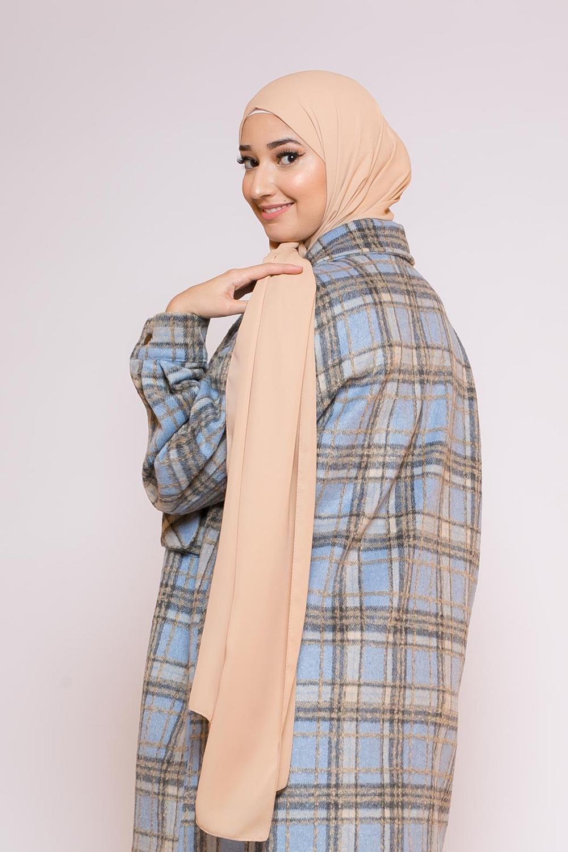 hijab mousseline nude