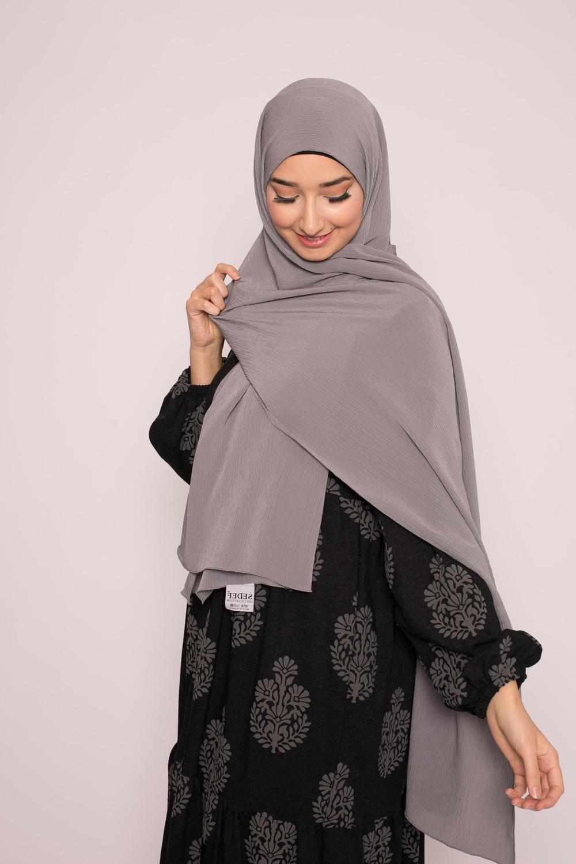 Hijab sedef krinkle gris