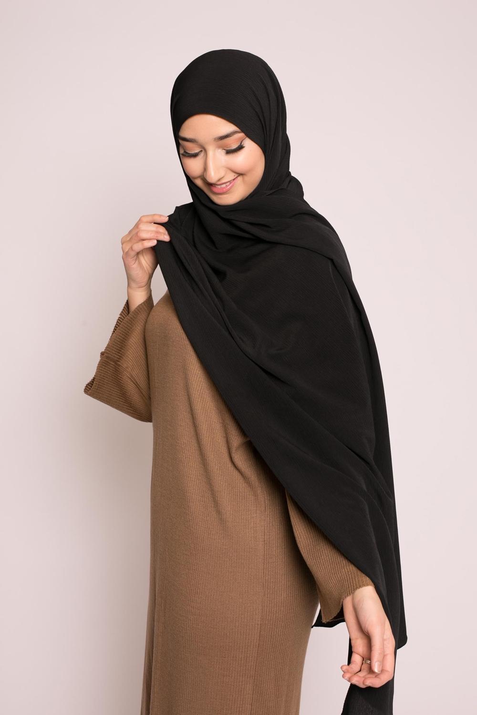 Hijab sedef krinkle noir