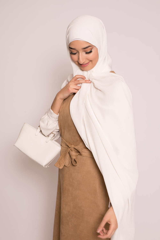 Hijab sedef krinkle blanc