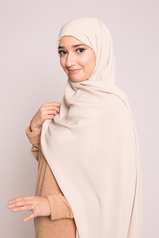 Hijab sedef krinkle beige