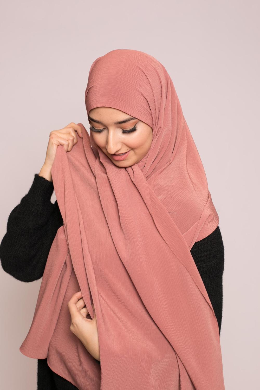 Hijab sedef krinkle nude pêche