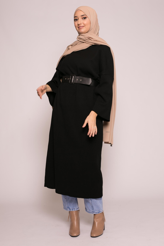 Robe large d'hiver noir