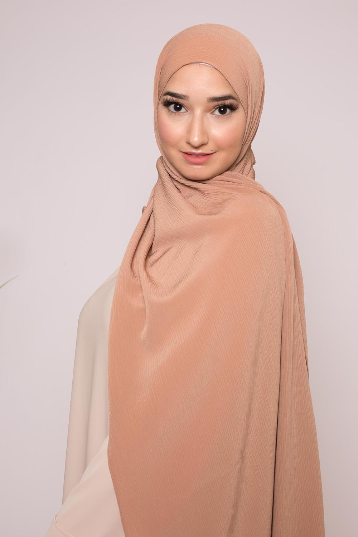 Hijab sedef krinkle caramel