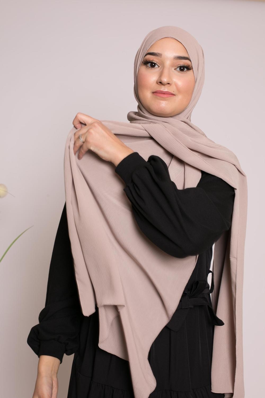 Hijab sedef krinkle taupe