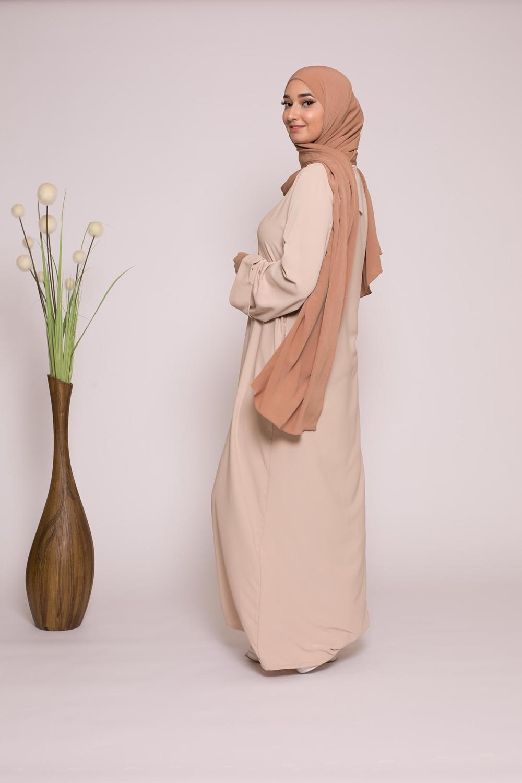 Abaya casual beige