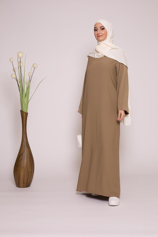 Abaya casual taupe