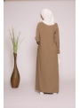 Abaya casual taupe boutique femme musulmane moderne
