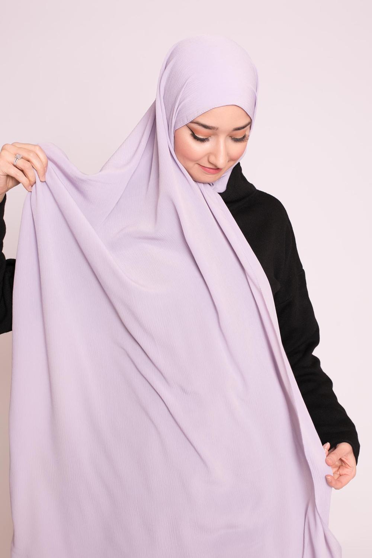 Hijab sedef krinkle lilas