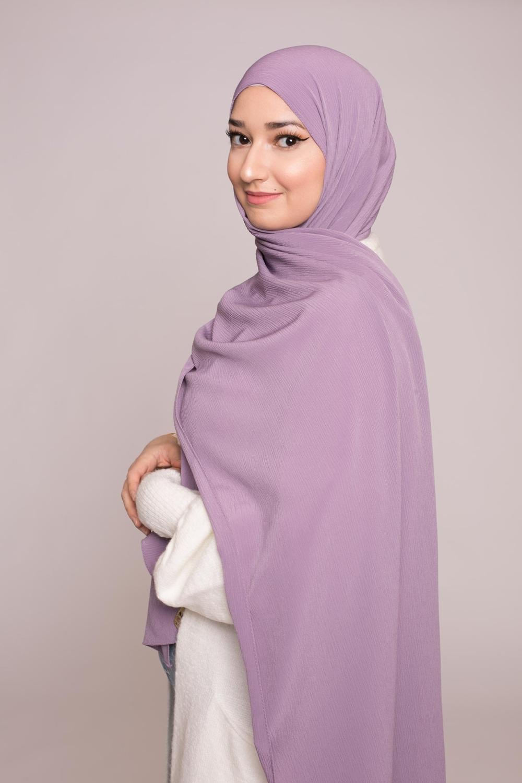 Hijab sedef krinkle violine