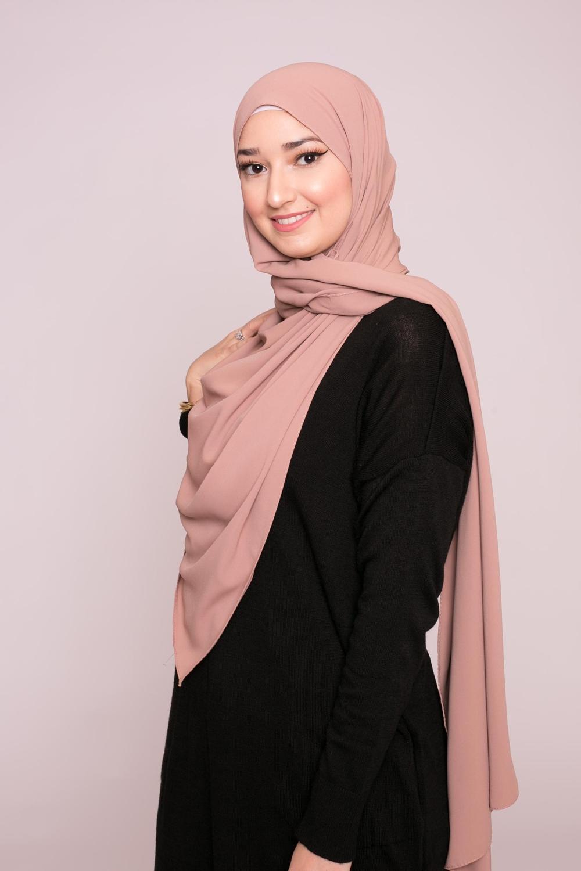 Hijab soie de médine noisette