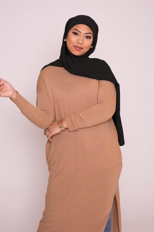 Hijab viscose noir