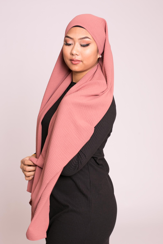 Hijab viscose terre cuite