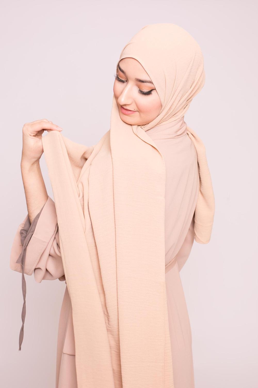 Hijab viscose beige