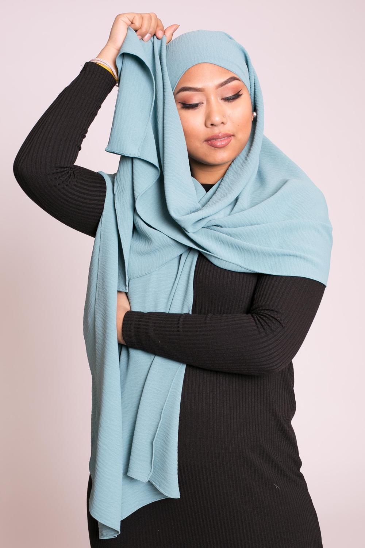 Hijab viscose turquois