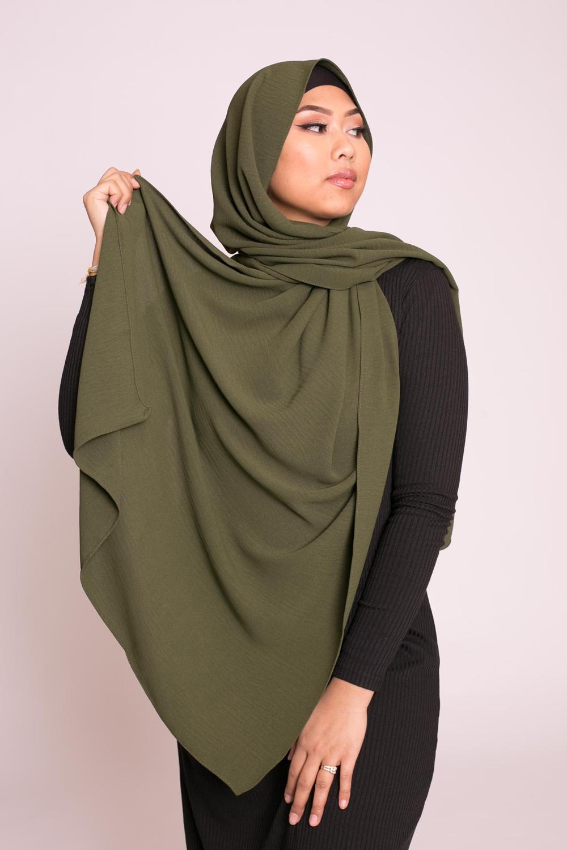 Hijab viscose kaki