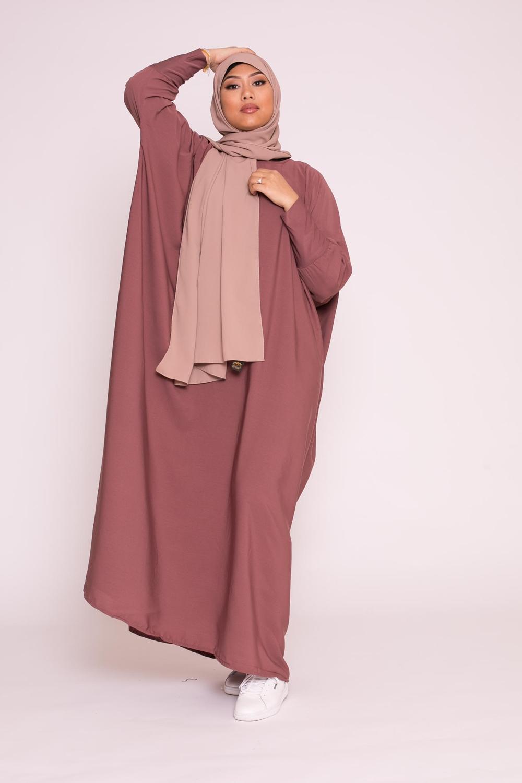 Abaya saoudienne prune marroné