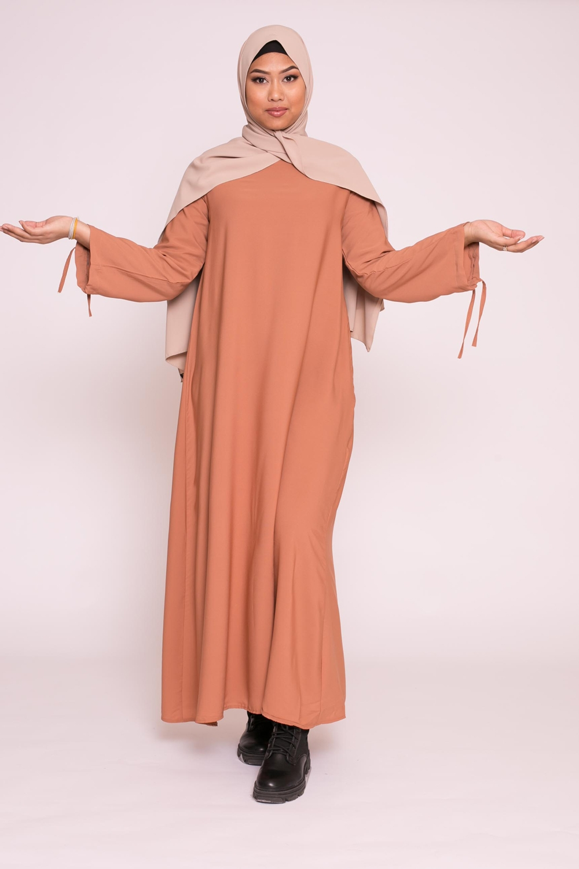 Abaya médina brique marroné