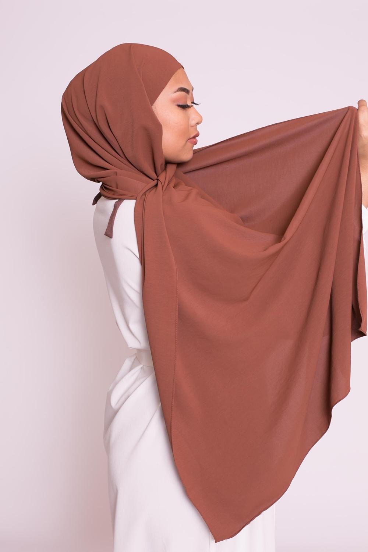 Hijab easy prêt à enfiler moka