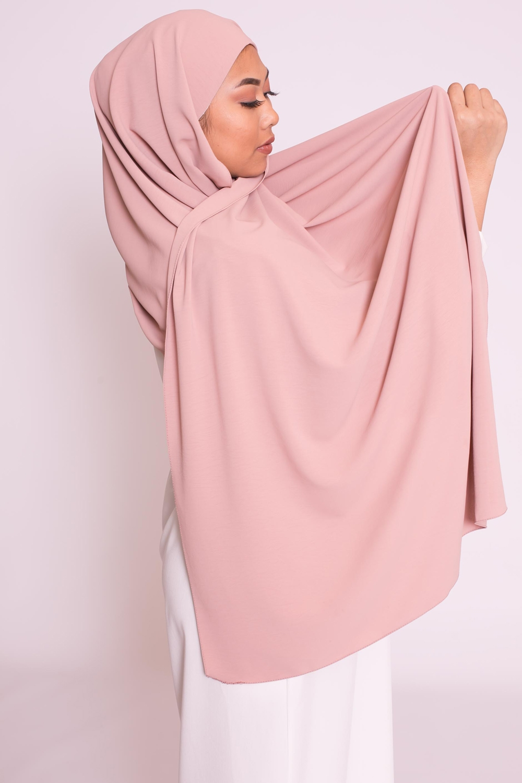 Hijab easy prêt à enfiler vieux rose