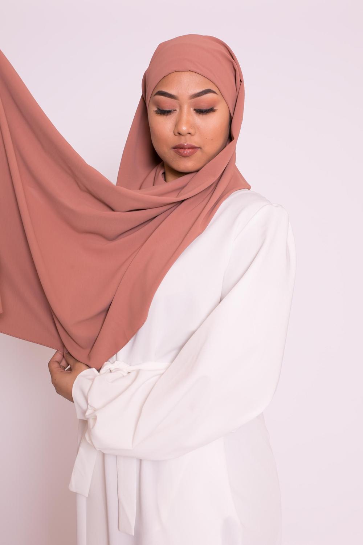 Hijab easy prêt à enfiler nude pêche