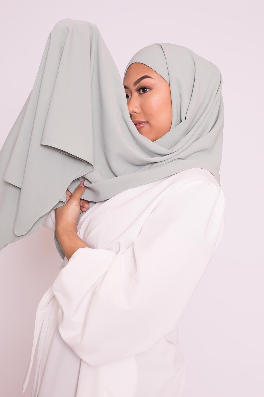 Hijab easy prêt à enfiler vert amande