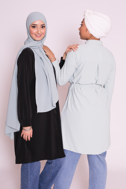 Hijab easy prêt à enfiler vert d'eau