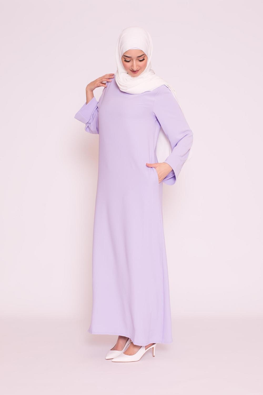 Abaya casual lilas