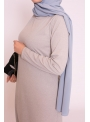 Robe basic grise nouvelle collection printemps été boutique hijab