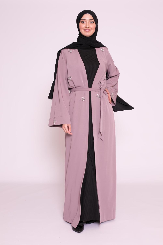 Kimono strass lilas