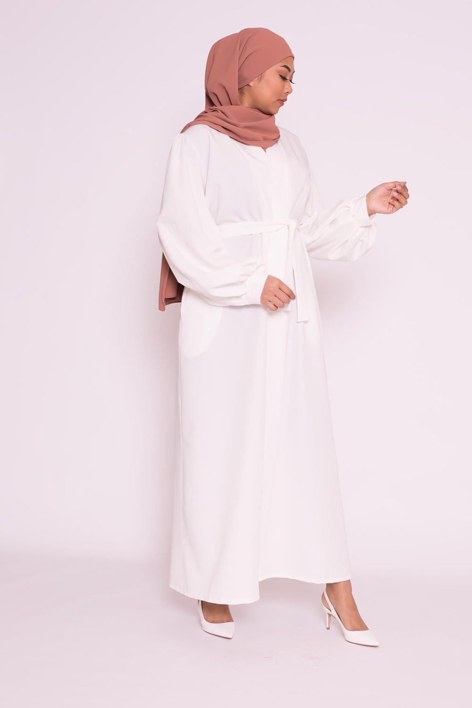 Kimono manche ballon blanc